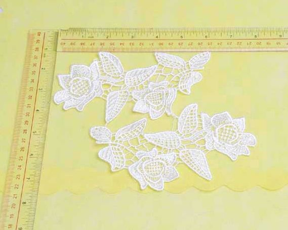 Ivory venise lace applique bridal hair appliques wedding etsy